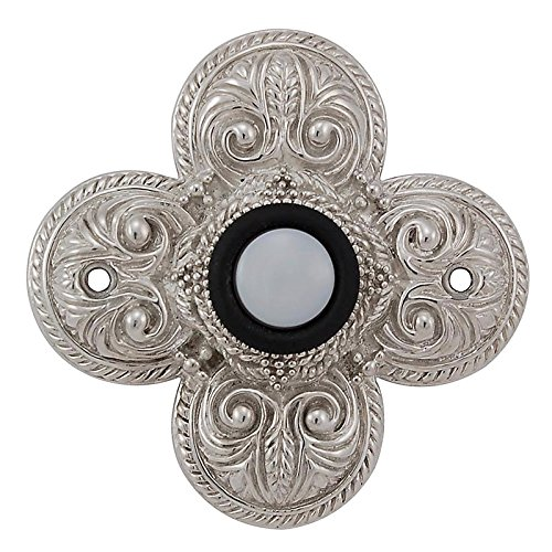 Vicenza Designs D4009 Napoli Doorbell, Polished Nickel