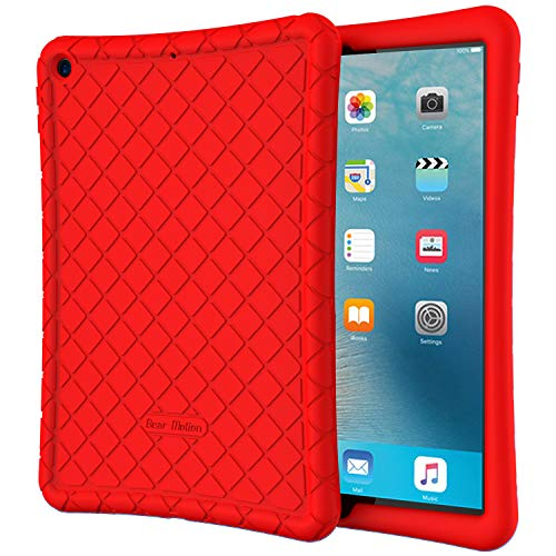 Bear Motion for New iPad 7th Generation Case 10.2 Inch 2019 - Premium Silicon Case for New iPad 10.2 Inch 2019 Release (New iPad 7th Generation Case 10.2 Inch 2019, Red)