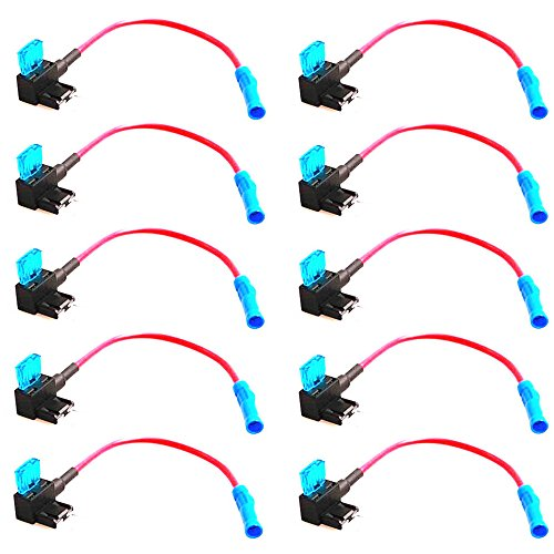 E Support 12v Car Add-a-circuit Fuse TAP Adapter Mini ATM APM Blade Fuse Holder Pack of 10
