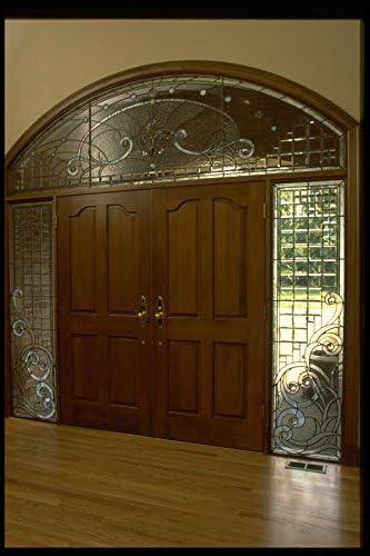 031000doble puerta con cristal biselado marco A410x 8de impresión fotográfica Póster