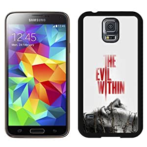 S5 Cover Case,Devil Within Poster Game Art Black Personalized Cool Design Samsung Galaxy S5 Case