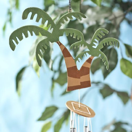 Factory Direct Craft Fun and Festive Tropical Themed Palm Tree Wind Chimes (Tropical Craft)