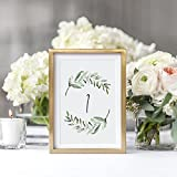 Greenery Wedding Table Numbers, 1-40, Centerpiece Decorations, Double Sided 4x6 Calligraphy Design, Numbers 1-40 & Head Table Card Included — from Bliss Paper Boutique