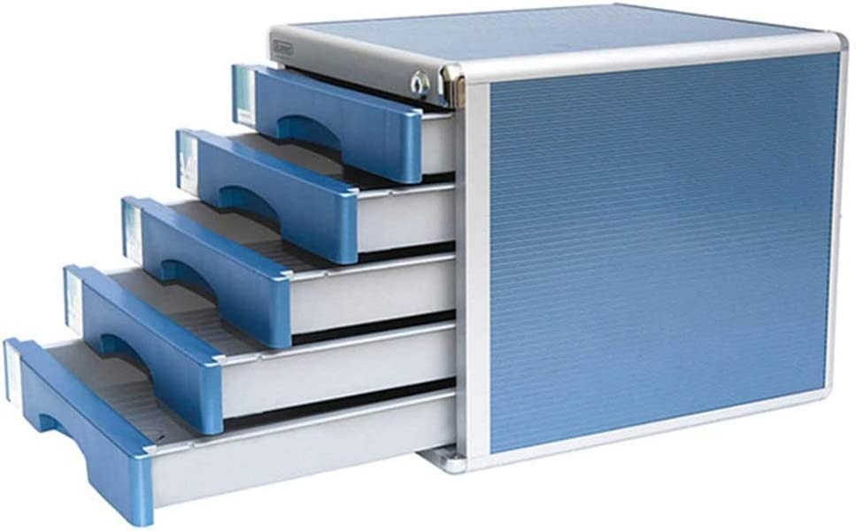 袖机・デスクサイド収納 デスクトップデータストレージキャビネットデスクトップとロックファイルキャビネットA4データストレージキャビネットの引き出しオフィスカウンター五層プラスチックスモールキャビネットモバイルファイルキャビネット