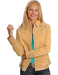 Women's Studded Leather Jacket - L233-19