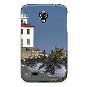 LeoSwiech Samsung Galaxy S4 High Quality Hard Phone Cases Provide Private Custom Vivid Fairport Harbor West Lighthouse On Lake Erie Ohio Image [dJO23034umrt]