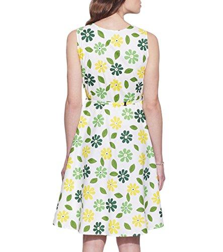 Vêtements pour femmes Robe en coton imprimé, lavable en machine, W-CPD32-1613, Taille-32 pouces