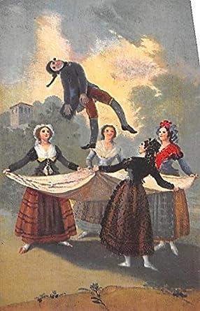 El Pelele Goya Spain Postcard