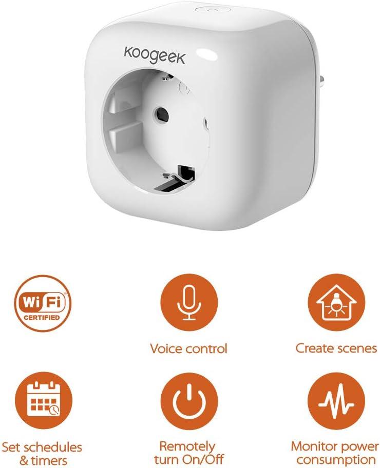 Smart Doppelstecker kompatibel mit Apple HomeKit meross WLAN Steckdose Intelligent WiFi Plug 2,4 GHz Alexa Google Assistant Doppelsteckdose funktioniert mit Siri
