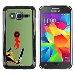 Caucho caso de Shell duro de la cubierta de accesorios de protección BY RAYDREAMMM - Samsung Galaxy Core Prime - Resumen del dragón