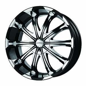 "Verde Custom Wheels Avatar Black Wheel with Machined Lip (20x8.5"") - Undrilled Blank"