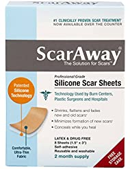 """ScarAway Silicone Scar Sheets (1.5"""" x 3"""") 8 ct"""