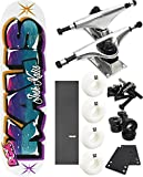 DGK Skateboards Airbrush Skateboard 7.75'' x 32'' Complete Skateboard - Bundle of 7 items