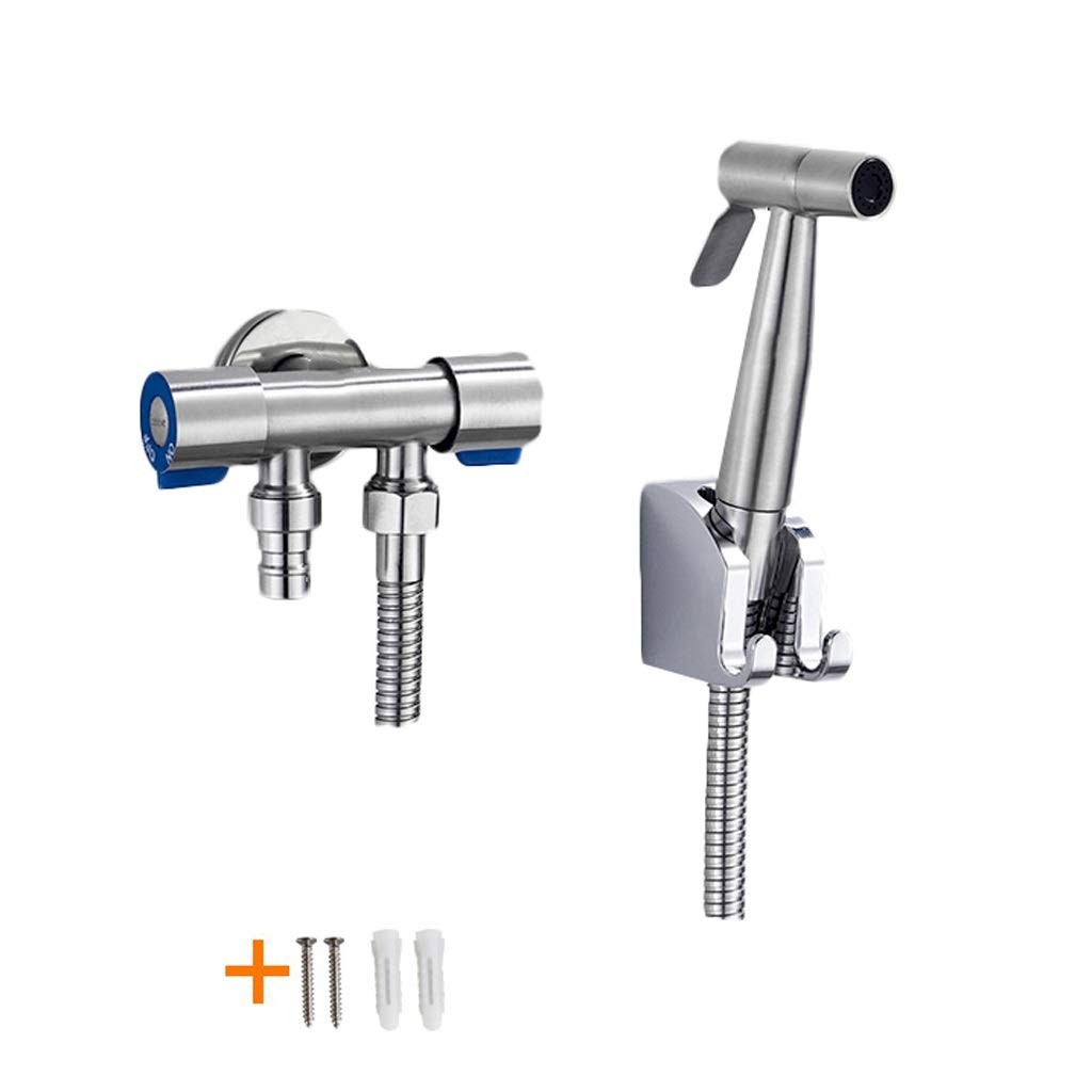 Sprayers Flusher Piece Set Handheld Bidet Toilet Sprayer Hygiene Bidet Shower Sprayer Bronze Pressurized Washing Faucet Hot and Cold Adjustable Toilet Spray Gun (Color : A4-Spray Set of 5)