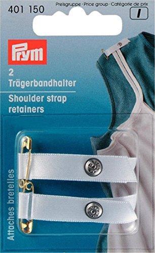 (PRYM 2 Pieces Shoulder Strap Retainers, White - 401150)