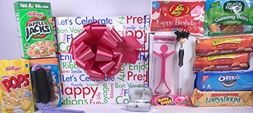 Women's Birthday Gift Box Basket II - Woman / Misses / Mom / Daughter / Grandma / Aunt / Sister - Send Your Happy Birthday Wishes With These Feminine Gifts and Tasty Treats Today! (Send A Gift Basket Today)