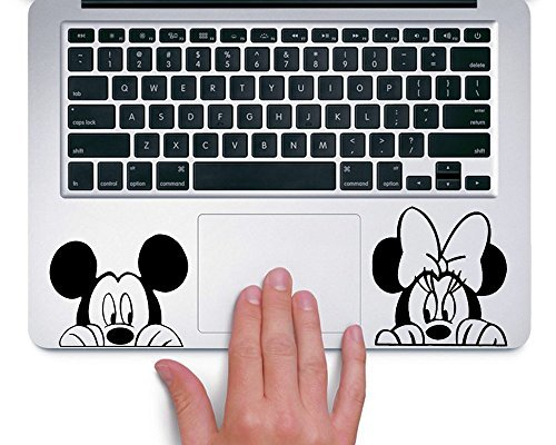 Mickey and Minnie Peeking Up Disney - Trackpad Apple Macbook