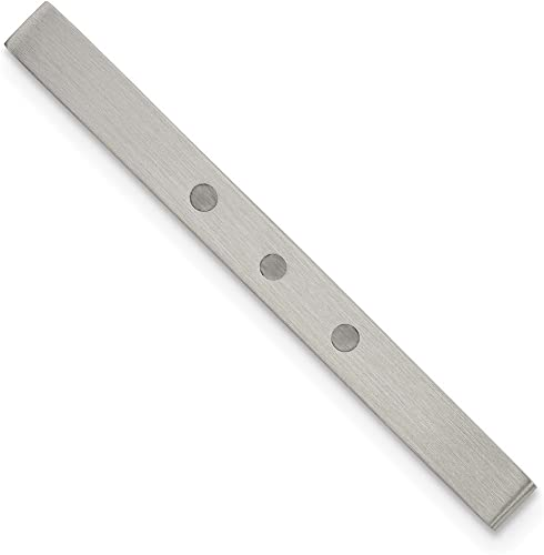 Stainless Steel Mens Accessory Tie Tacs//Tie Bars White 4 mm 50 mm Enameled Tie Bar