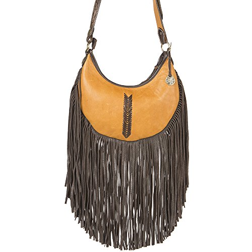 NRS With J Womens Double Buckskin Hobo Bag Stitching Crean 7wqafZ7