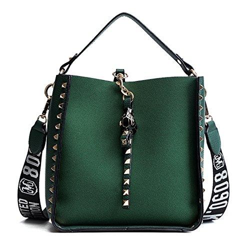 Couleur Casual Bandoulière KYOKIM à Green Femmes Unie Main à Mode Sac Sac qqA8Hwz