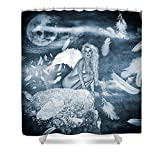 Pixels Shower Curtain (74'' x 71'') ''The Moonlight Of The Angels''