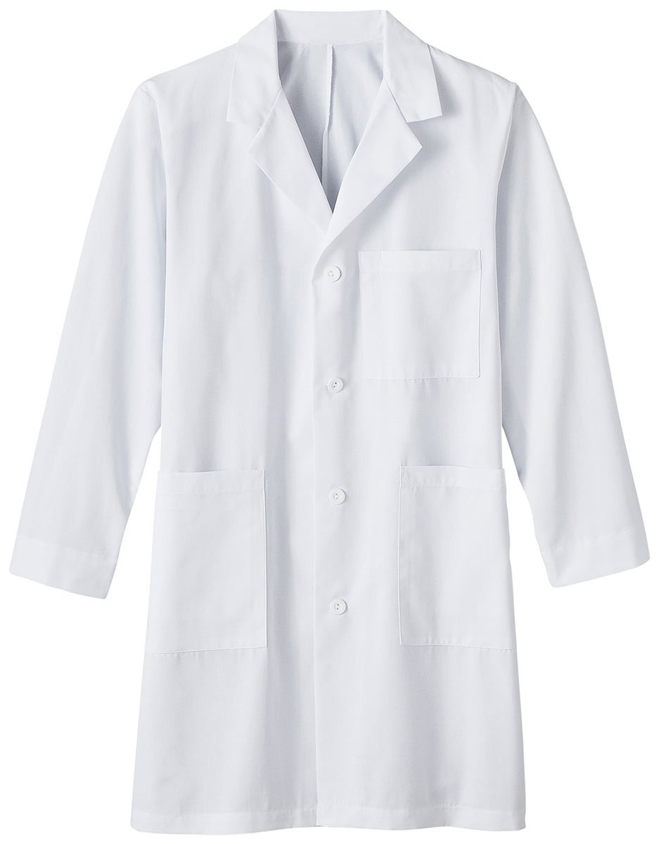 Meta Labwear Men's 5-Pocket Twill 38''; Lab Coat, White, 42
