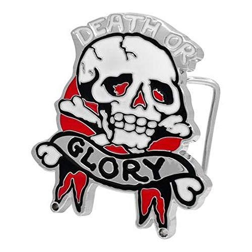 (Death or Glory Skull & Crossbones Belt Buckle Miltary Biker Army )