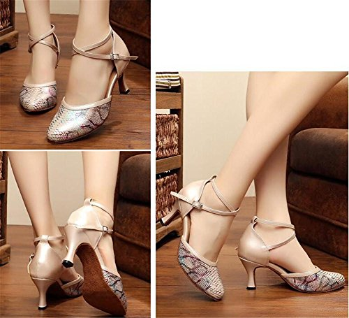 PU da pompe Sala ballo latino XIE serpente Danza donna 6CMHEEL Formato EU40 da Scarpe sandali EU38 Taogo 35To42 Stampa CWWnqRf7