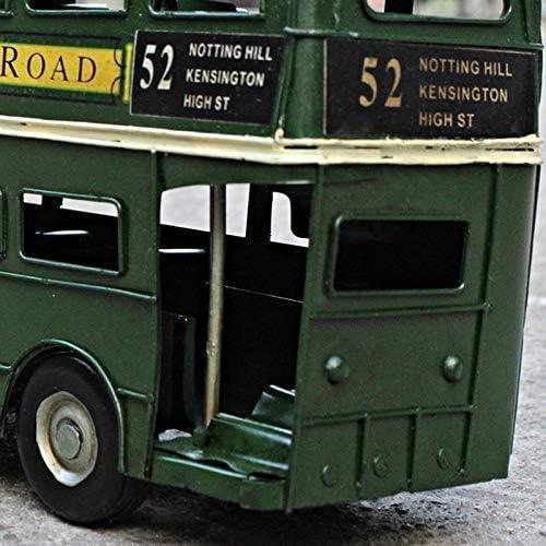 Retro Nostalgische Britse dubbeldekker Handmade Tin Auto Model Decoratie Bar Fotografie Props creatief cadeau liuchang20