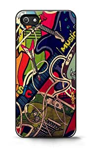 Custom iPhone Case -Rock Music For Apple iPhone 5/5s Hard Back Cover Case