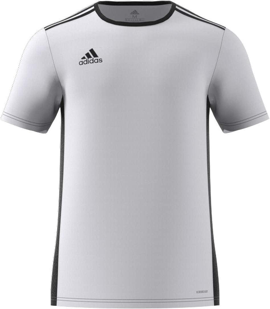 adidas Entrada 18 JSY T-Shirt, Hombre, White/Black, M