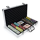 300ct Showdown Poker Chip Set in Aluminum Case, 13.5-gram Heavyweight Clay Composite by Claysmith Gaming