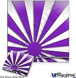 Sony PS3 Slim Skin - Rising Sun Japanese Purple