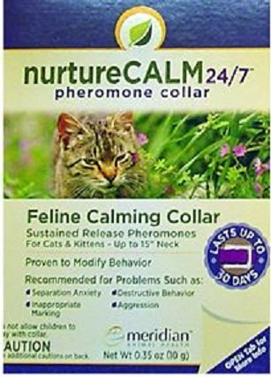 NurtureCALM 24/7 Feline Calming Pheromone Collar (Upto 15'' Neck)