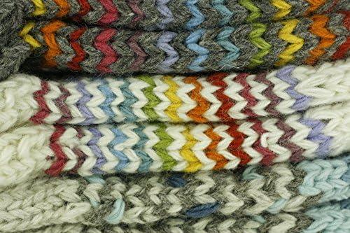 MySocks Calze in lana lavorata a maglia in disegni colorati