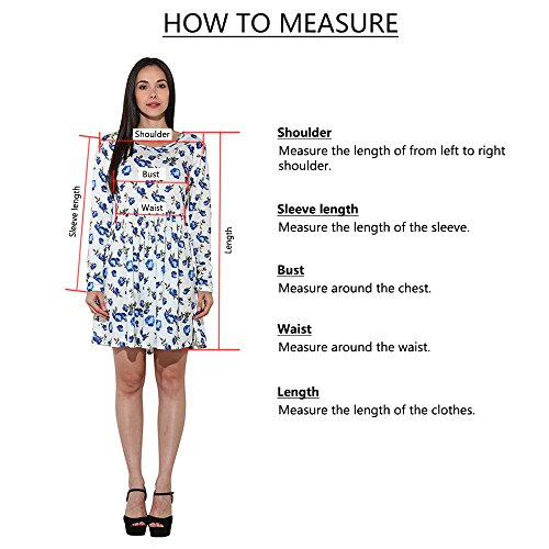 NRUTUP Women O Neck Casual Print Pocket Lace Short Sleeve Mini Dress Loose Party Dress (Blue,S) by NRUTUP (Image #5)
