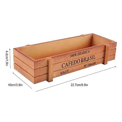 Amazon.com: Caja de almacenamiento de madera vintage para ...
