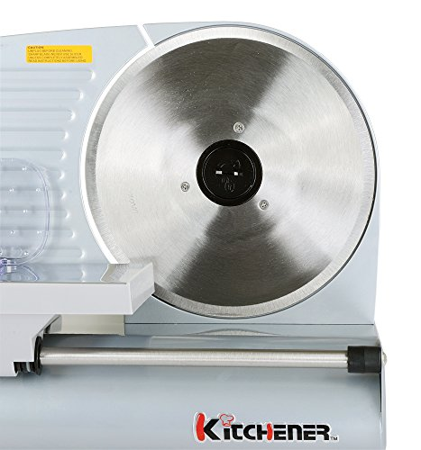 Kitchener 9-inch Professional Electric Meat Deli Cheese Food Slicer, Stainless Steel Blade, 150 Watt by Kitchener (Image #4)