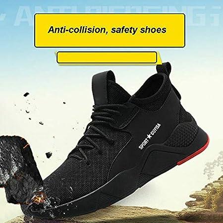 Modaily Chaussures de s/écurit/é pour Homme avec Embout en Acier Noir 36
