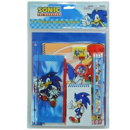 Sonic the Hedgehog 11pc Value Pack Stationary Set ()
