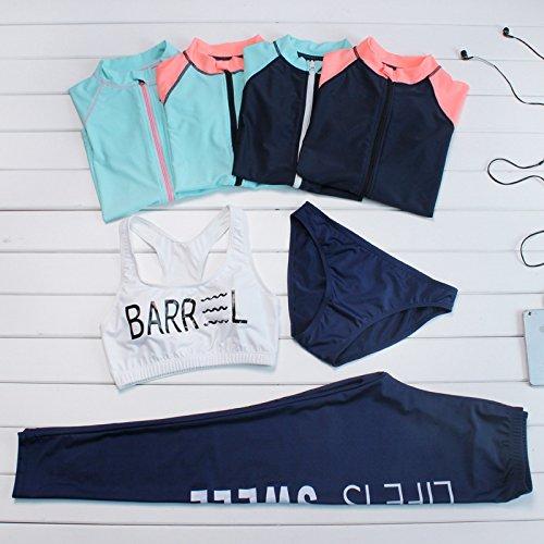 Beachwear blu bagno costume sportivo Elastic dimagrante nero l pezzi abbigliamento da bikini set Safe sexy surfing Series TIANLU super Ixa0qBYW