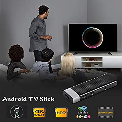 ALRY Android 9.0 TV Stick,Mini Android TV Box - 64Bits 4 GB De RAM 32 GB ROM Amlogic S905Y2 De Cuatro Núcleos, Dual WiFi 2.4G + 5G / BT4.2 / USB 3.0 /