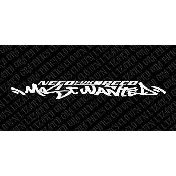 Need For Speed Most Wanted Sticker Decal Aufkleber Windshield Windows Car Truck