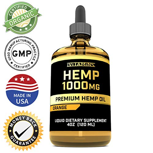 iVitamins Hemp Oil for Pain & Anxiety Relief :: Promotes Healthy Sleep, May Help with Pain, Mood, Migraines, Heart Health & More :: Hemp Extract :: Rich in Omega 3,6,9 (1,000mg: 4 fl oz)