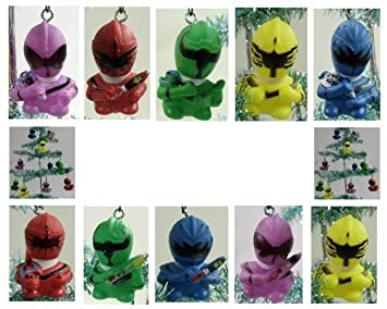 Power Rangers Christmas Tree.Set Of 10 Power Rangers Christmas Tree Ornaments Featuring