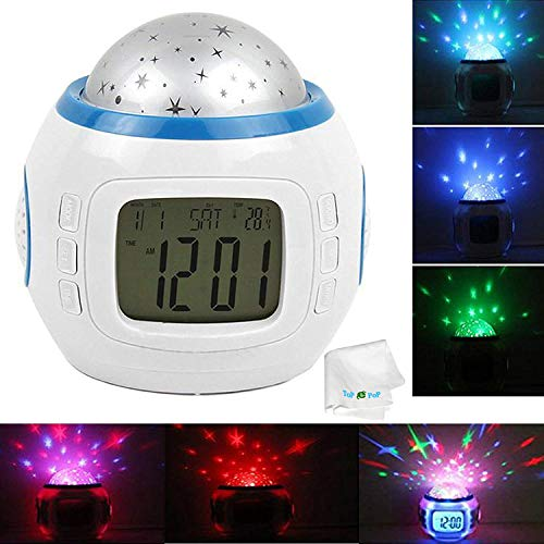 Night Light Color Change Led Star Projector Clock