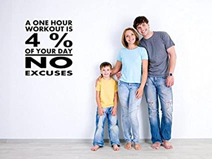 42dded545 Image Unavailable. Image not available for. Color: JC Design 'A one hour  workout is 4% of your day.No excuses