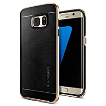 Galaxy S7 Edge Case, Spigen Neo Hybrid Galaxy S7 Edge Case with Flexible Inner Protection and Reinforced Hard Bumper Frame for Galaxy S7 Edge 2016 - Champagne Gold