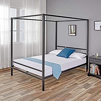 Amazon Com Full Size Canopy Bed Frame Canopy Bed Full