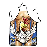 Doormat shirts Mens Sexy Naked Funny Apron Happy Chicken Kitchen Cooking Sexy Apron